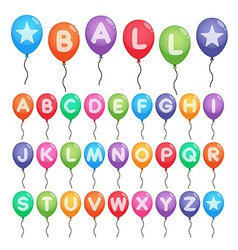 Balloon alphabet letters vector