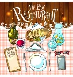 bestrestaurant food vector image vector image