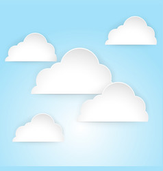 blue sky with fluffy clouds vector image vector image