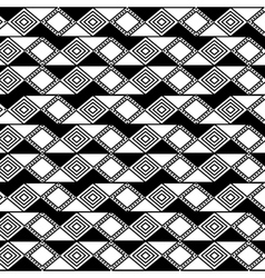 Boho style black and white background design vector image vector image