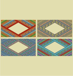 Bright ethnic horizontal frame set vector image vector image