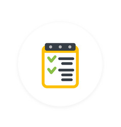 checklist icon achievements completed tasks vector image