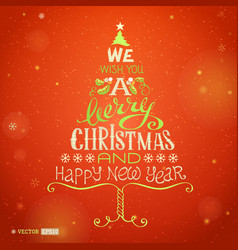 Christmas hand-written lettering vector image vector image