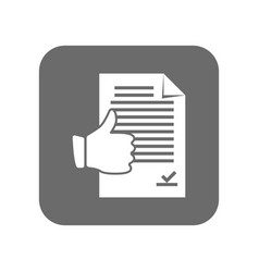 Customer service icon with thumb up sign vector