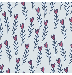 Cute valentines seamless pattern with hearts vector image vector image