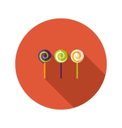Halloween spiral sweets flat icon vector