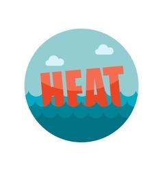 Heat flat icon vector