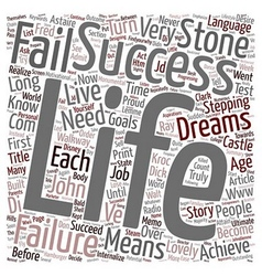 In success language failure means you are almost vector