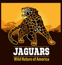 jaguar leopard logo emblem symbol vector image