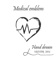 Medical heartbeat icon vector