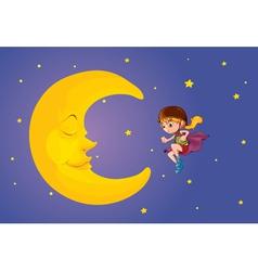 moon kid vector image vector image
