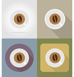 objects for food flat icons 06 vector image vector image