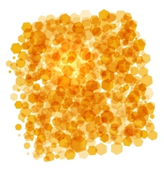 orange crystals background vector image