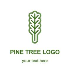Pine or fir tree logo vector