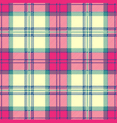 Pink tartan plaid seamless pattern vector