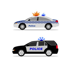police car image vector image