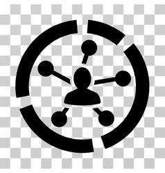 Relations diagram icon vector