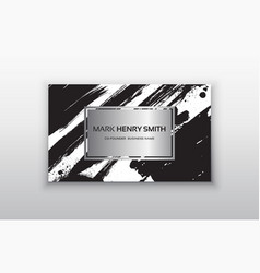 set of black and silver design templates for vector image vector image