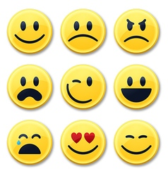 Smiley and Emotion Faces vector image vector image