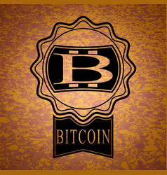 Sticker with bitcoin symbol vector