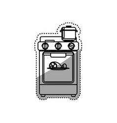 stove household appliance vector image vector image