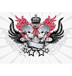 Winged Skull Emblem vector image