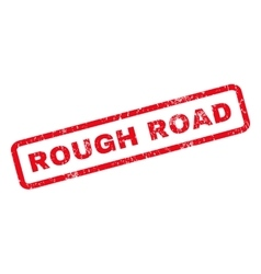 Rough road rubber stamp vector