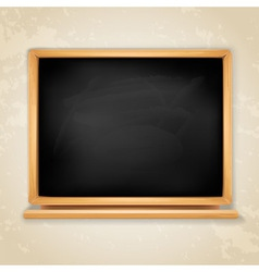 blackboard on grey vector image