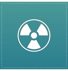 Radiation flat icon vector