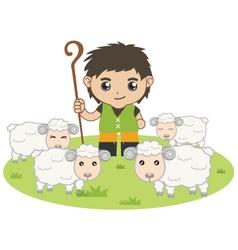 The shepherd boy vector