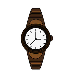 Colorful graphic golden male wristwatch vector