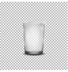 Realistic glass cup vector