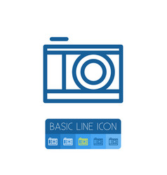 Isolated lens outline snapshot element can vector