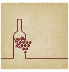 wine menu old background vector image