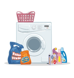Washing set vector