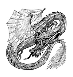 Sketch dragon vector