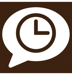 Message time icon vector