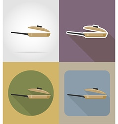 objects for food flat icons 07 vector image