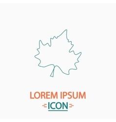 Maple leaf computer symbol vector