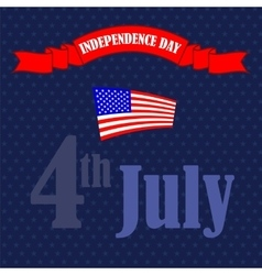 American flag starry background vector