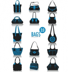 bags silhouette vector image vector image