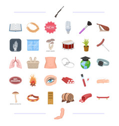 Body medicine food and other web icon in cartoon vector