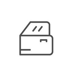 car door line icon vector image