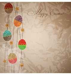 Easter card template vector image