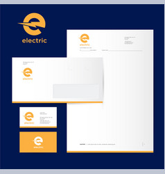 electric industrial power logo and identity vector image