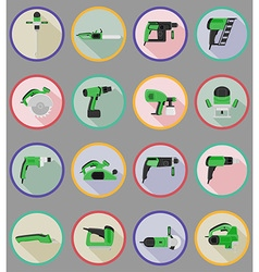 Electric repair tools flat icons 20 vector