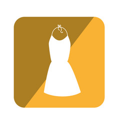 elegant businesswoman dress icon vector image