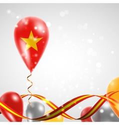 Flag of vietnam on balloon vector
