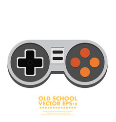 Flat joystick icon gaming background vector