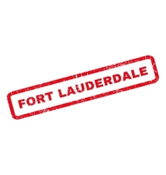 Fort lauderdale rubber stamp vector